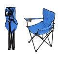 Cadeira Dobrável de pesca Cadeira de Praia Ao Ar Livre Portátil Piquenique Churrasco Partido multi-Fonctions Azul