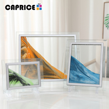 Liquid Sand Frame Landscape Picture Moving Glass Frame Changeable Painting Photo Ornaments Home Office Decor WMSLH