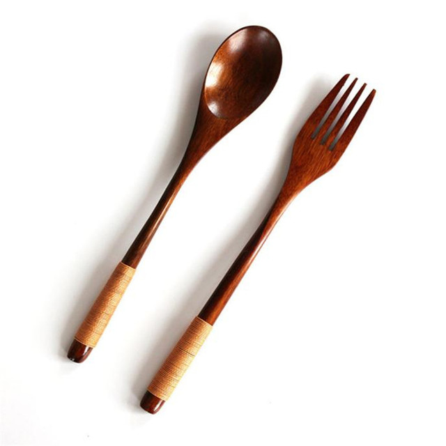 Top Quality Durable Eco-Friendly Wooden Spoon and Fork Set