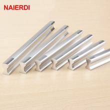 5PCS NAIERDI Aluminum Alloy Handles Kitchen Door Modern Wardrobe Handle Drawer Pulls Cupboard Cabinets Knobs Furniture Hardware