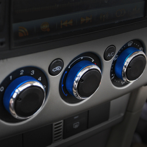 Image 4 - 3pcs/Set 4 Colors Car AC Knob Aluminum alloy Air Conditioning Heat Control Switch Accessories Suitable For Ford For Focus