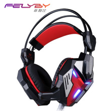 Wholesale New GS3100 headphone vibration function dizzy light computer games headset microphone stereo bass LED lights for PC gamers