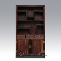 Book Tea Display Stand Rack Chinese Autique Living Room Sundries Shelf With Storage Cabinets Ming Qing