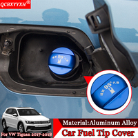 Car styling 1PCS Aluminum Alloy Car Fuel Tip Cover Decoration Auto Exterior Accessories For Volkswagen Tiguan Teramont Touran L
