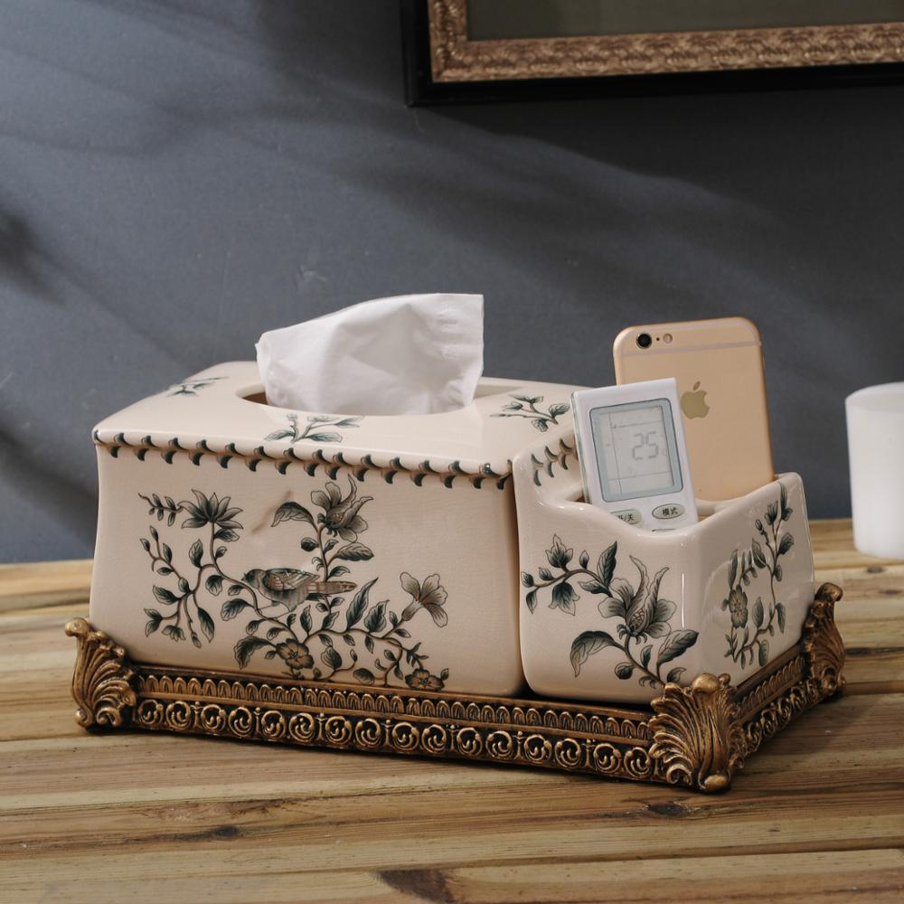 Direct manufacturers with storage box Home Furnishing creative American luxury multifunctional ceramic box ornaments