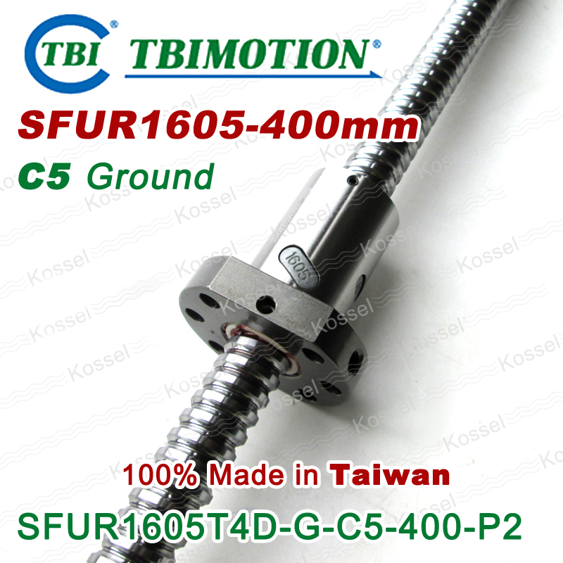 TBI 1605 C5 400mm ballscrew Ground with SFU1605 ball nut for high precision CNC kit SFU винт tbi sfkr 0802t3d
