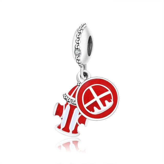421e01066 2019 New Fit Original Pandora Charm Bracelet 925 Sterling Silver Fire  Hydrant Pendant Charm Bead Red