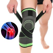 3D Weaving Pressurization Knee Brace Sport Pressurization Knee Pad Support Brace Injury Pressure Protect(China)