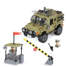 hot LegoINGlys military WW2 US Army Armed vehicles base war mini weapons figures Building Blocks bricks toys for children gift