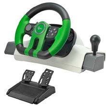 Curved 195 shock simulation automobile race game steering wheel pc usb computer vibration game steering wheel free shipping