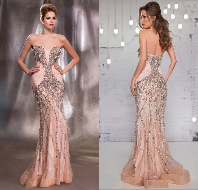 Stunning Beautiful Evening Gowns 2015 Long Formal Dresses Sweetheart ...