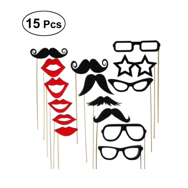 8pcs Wedding Engagement Party Fun Photo Booth Props Kits on Sticks