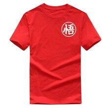T Shirt men2019Quality Cotton High Dragon Ball Z Goku   Shirt 100%   Male T-Shirts Cartoon Anime Top Tees