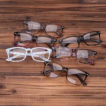 Acetate Eyeglasses Frames Clear Lens Fake Glasses Leopard Transparent Brown Vintage Glasses Eyewear Spectacle Frames Women Men