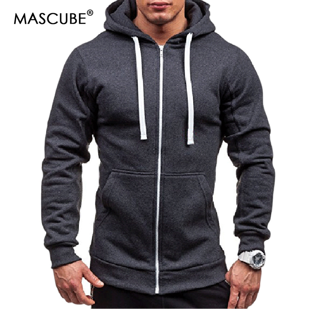 MASCUBE 2019 New Mens Sets Sweatshirts Zipper Hooded Sweatshirts Male Clothing Fashion Velvet Hoody For Men Hoodies Pullovers