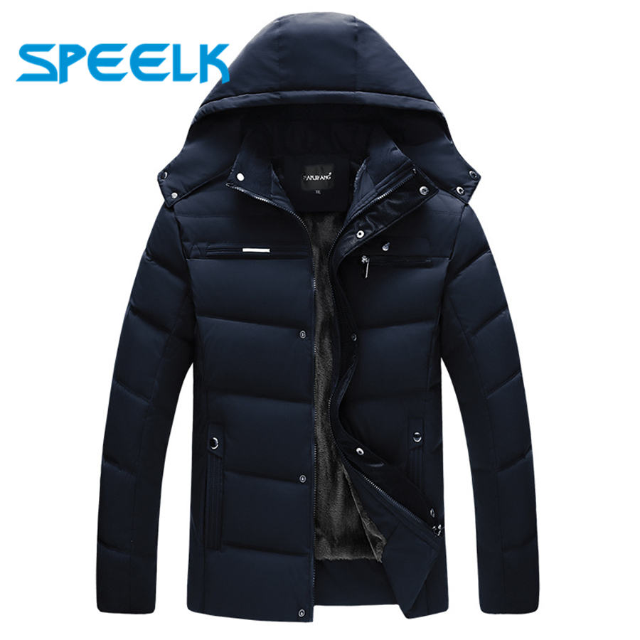 Brand New   Down     Coat   Men Winter Thick Cotton Jacket Men's Fashion Cotton-padded Jackets Male Autumn Causal Parkas Outwear