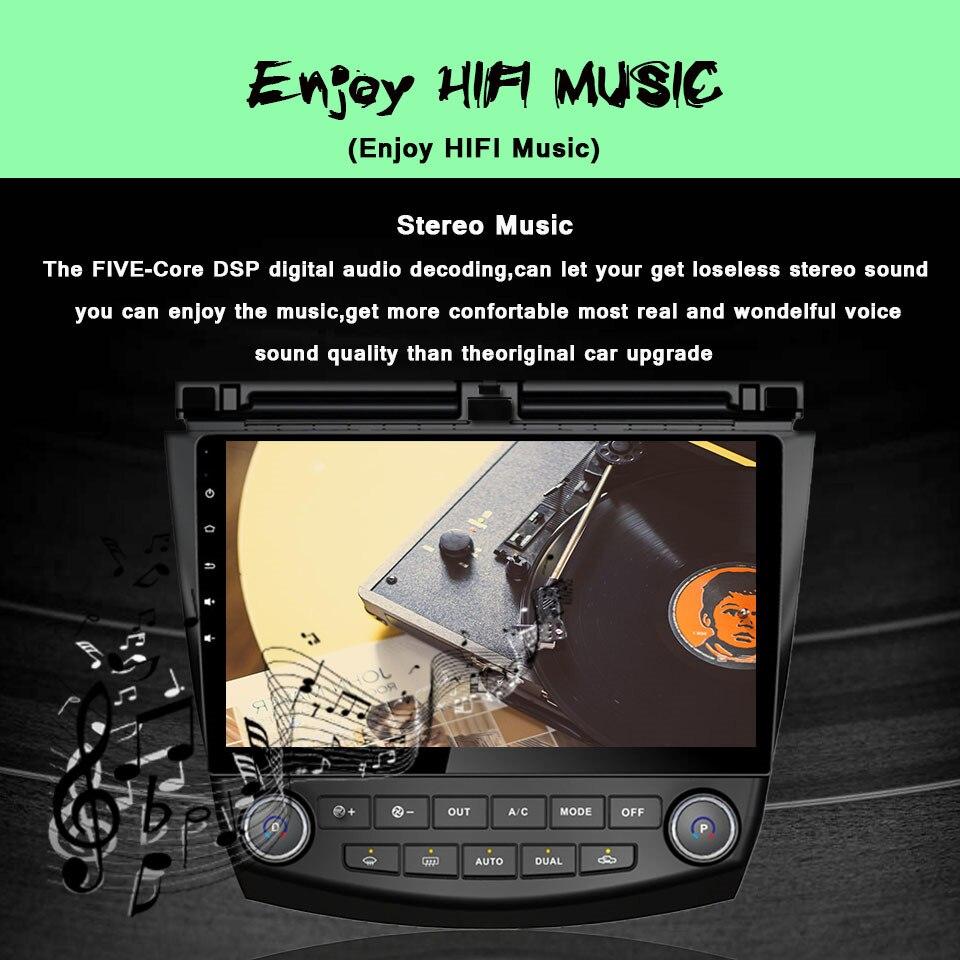 Android 7.1 CAR Player GPS Navi Multimedia Head Unit FOR Honda ACCORD 7 2003-2007 Car Audio Stereo 3G 4G WIFI BT GPS Navigation