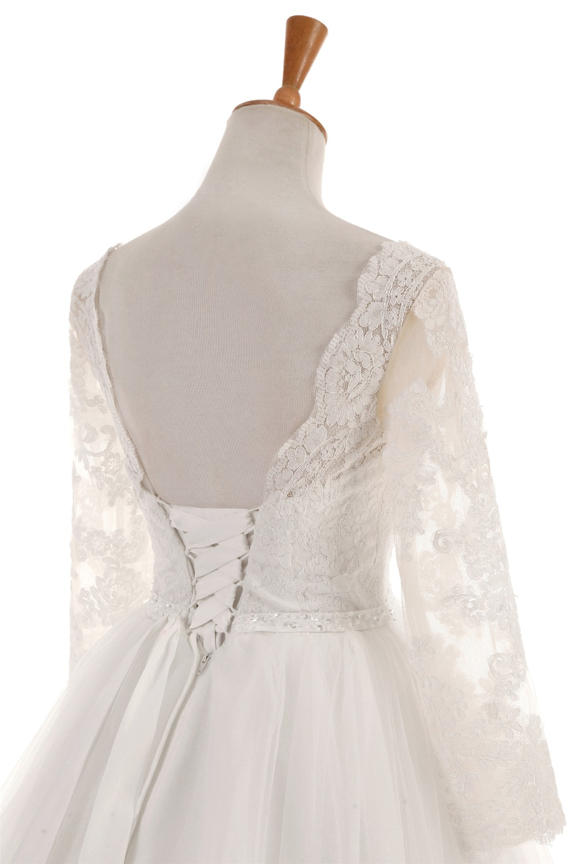 Vestido De Noiva De Renda Wedding Dress 2019 Elegant Bridal Gowns Backless Lace Princess Custom Made Vestidos De Novia in Wedding Dresses from Weddings Events