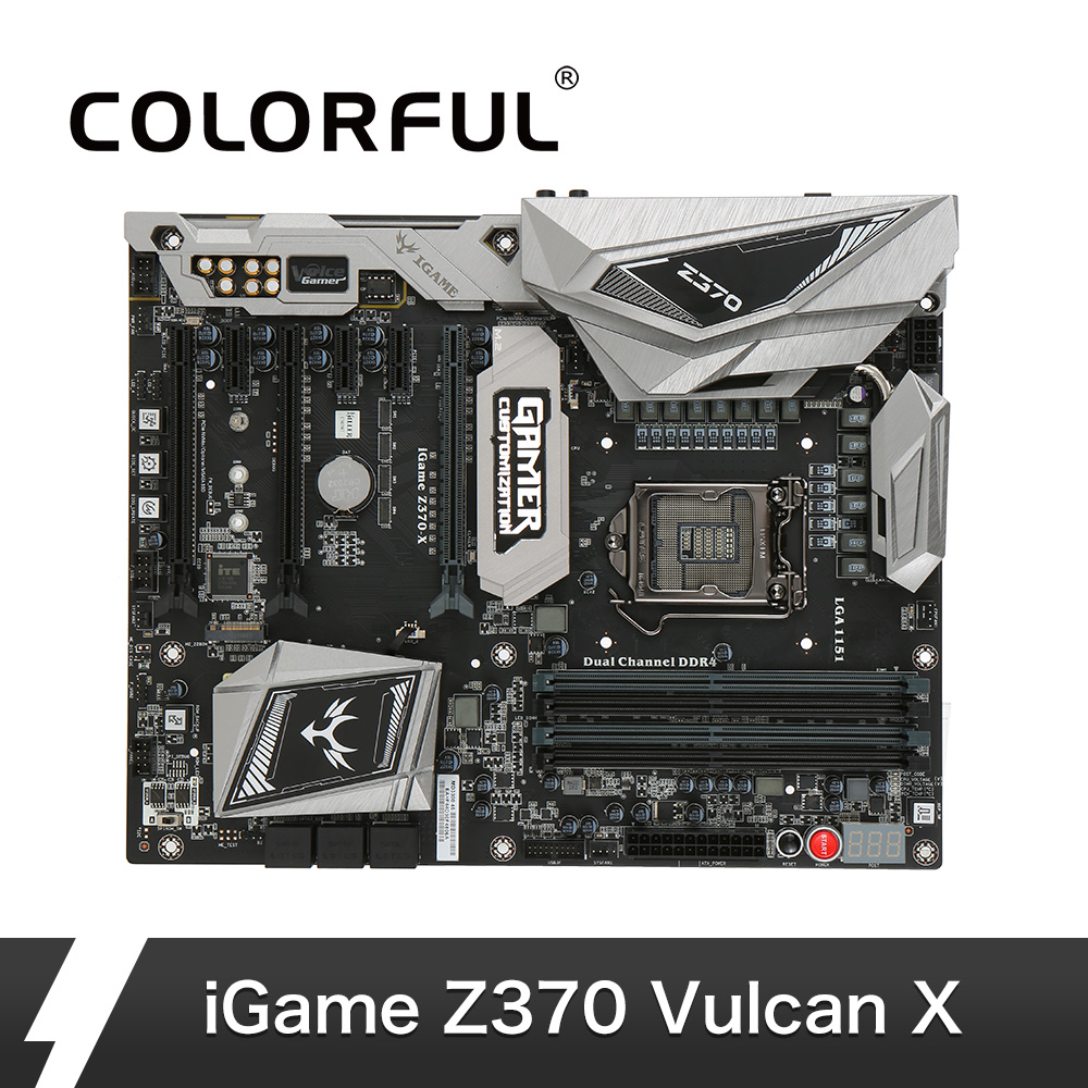 Colorful iGame Vulcan X Intel Z370 Motherboard Dual M 2 Slots Gamer Voice 2 0 Debug
