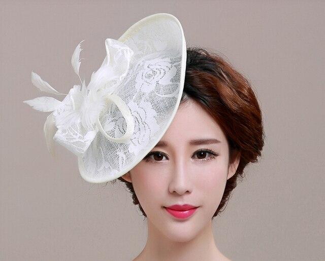Las mujeres de Gran Flor de Plumas Fascinators Sinamay Boda Sombrero de La  Muchacha Con Encanto 87e9b41b089