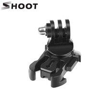 SHOOT 360 Degree Rotate Quick Release Buckle Vertical Surface J-Hook Mount for GoPro Hero 7 6 5 Sjcam Yi 4K Eken Action Camera