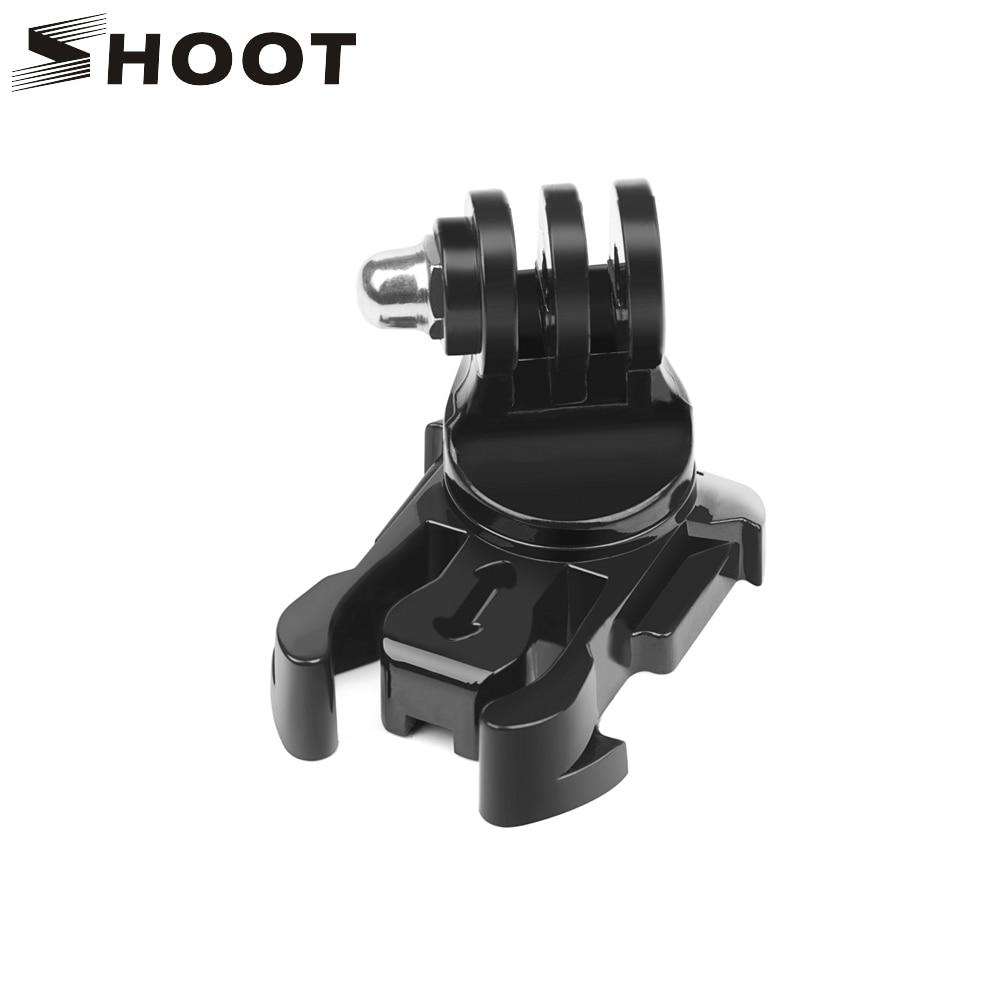 SHOOT 360 Degree Rotate Quick Release Buckle Vertical Surface J-Hook Mount For GoPro Hero 8 7 6 5 Sjcam Yi 4K Eken Action Camera