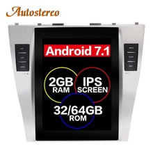Android 7 Tesla style Car GPS Navigation For TOYOTA CAMRY 2007-2011 stereo multimedia no DVD player radio tape recorder headunit