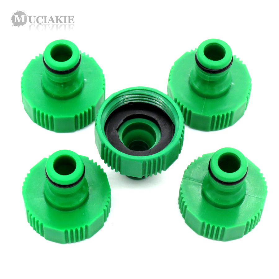 MUCIAKIE 2PCS 1 Inch (32cm) Female Threaded Faucet Tap Adapter Hose Quick Connector Garden Irrigation Connecter