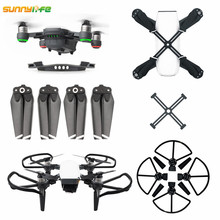 Sunnylife DJI Spark Accessories 4730 Propeller + Propeller Fixator + Propeller Guard with landing gear +Battery Buckle Cover