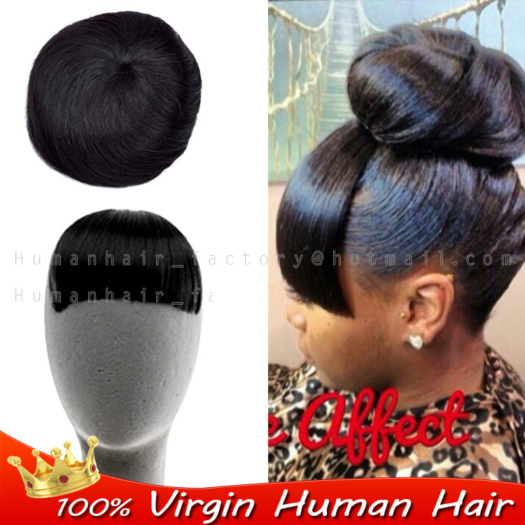 Clip In Fringe Straight Short Hairpiece Real H Uman Hair Bang Clip