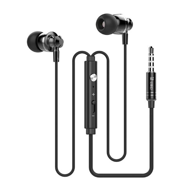 20pcs/lot Alloy Sports Earphones M300 Volume Control Bass Headset Stereo super bass Earphone music game with Microphones