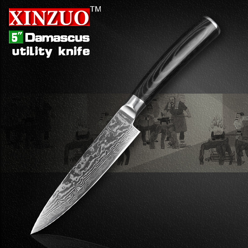 NEW 5 Utility font b knife b font Japanese VG10 Damascus steel kitchen font b knife