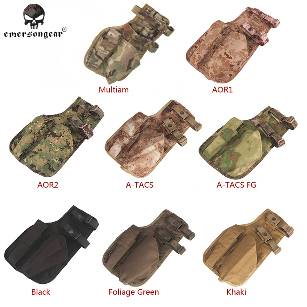 Emerson Mp7 Tactical Leg Holster Emersongear Shooting Pistol Drop Pouch Multicam Camo Em6212 Gun Left Right Hand 8 Colors Supplement The Vital Energy And Nourish Yin Shoes Women's Shoes