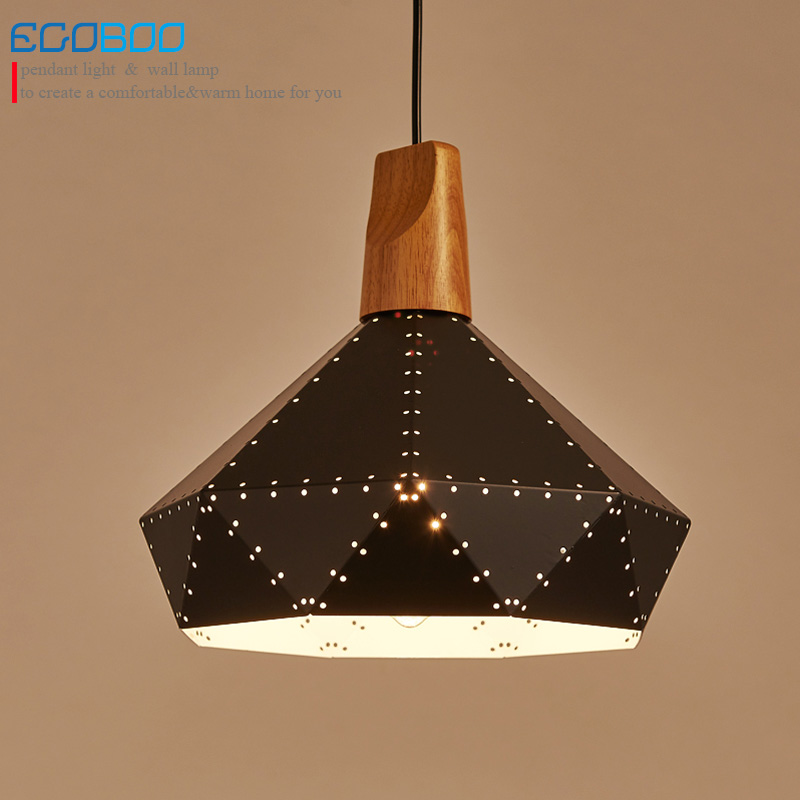 Modern Wood Pendant Lights E27 black white iron lamp shade Luminaire Dining Room Lights Pendant Lamp For Home Lighting replica nonla e27 modern white pendant lights pendant lamp pendant light pendant lighting