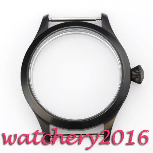Boîtier en acier inoxydable PVD Corgeut 44mm pour montre de mouvement eta 6497 6498
