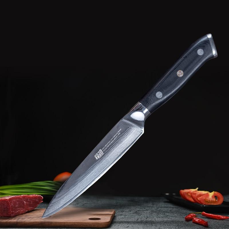 FINDKING Kitchen Knife Damascus-Steel 5-G10-Handle Brand-New