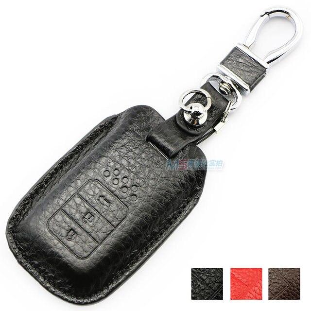 Натуральная Кожа Ключа Автомобиля обложка брелок для Honda smart key PILOT CR-V XR-V VEZEL FIT ГОРОД CRIDER ACCORD ODYSSEY CROSSTOUR SPIRIOR