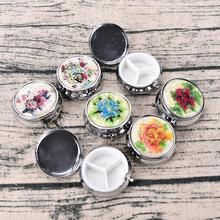 3 сотового металлическое круглое серебристое таблетки Коробки держатель Чехол серебро таблетки Коробки контейнер круглый металлический Медицина Чехол