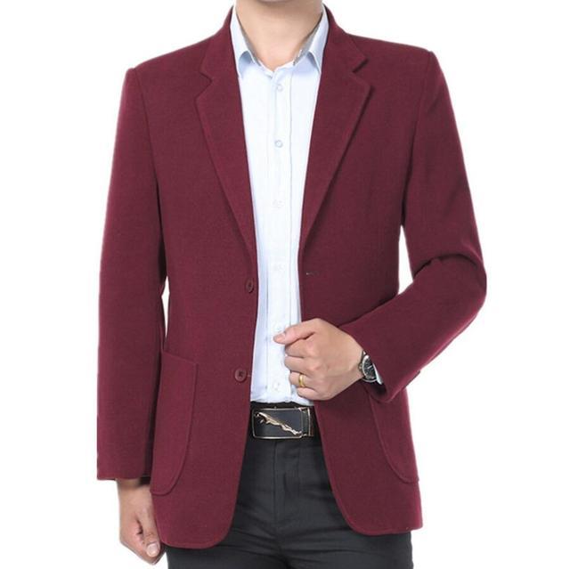Мужчины куртка шерсти пользовательские бизнес пальто зима формальный две кнопки чистый цвет, чтобы согреться мужчины куртку