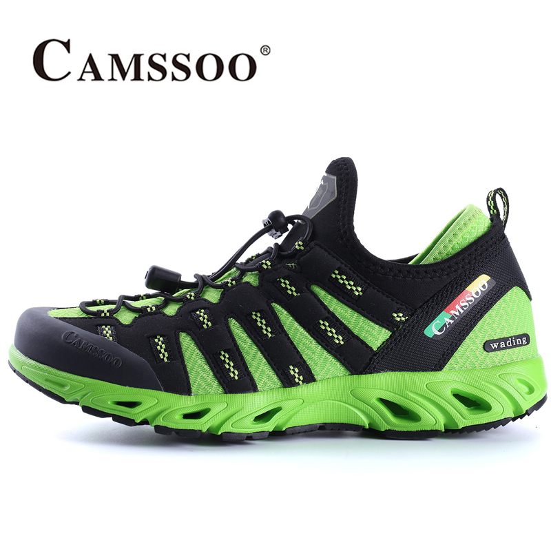 2018 Camssoo Mens Light Weight Breathable Water Shoes Quick Dry Water Shoes Outdoor Sports Shoes Blue Green Free Shipping 6038 rugged shark mens aquamesh3 water shoes