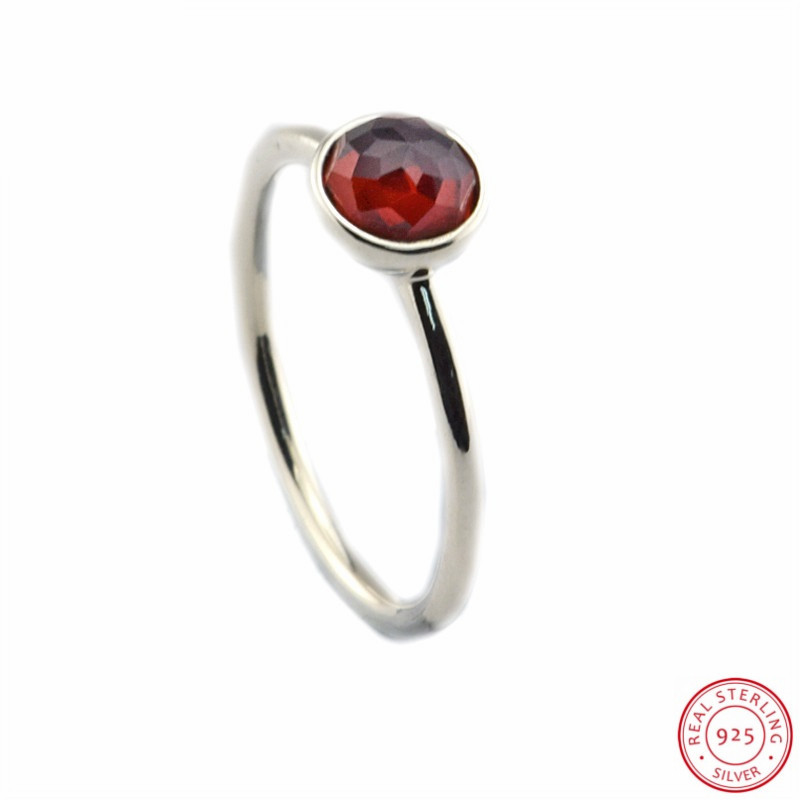 33e3855b4 Detail Feedback Questions about January Droplet Birthstone Red Garnet Rings  for Women Silver 925 Jewelry Love & Safe Travel & Speedy Homecoming  FLR102(1) on ...