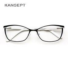 מתכת נשים עין חתול משקפיים מסגרות לנשים בציר משקפיים שקוף שחור ולבן משקפיים מסגרות # TWM7559C2