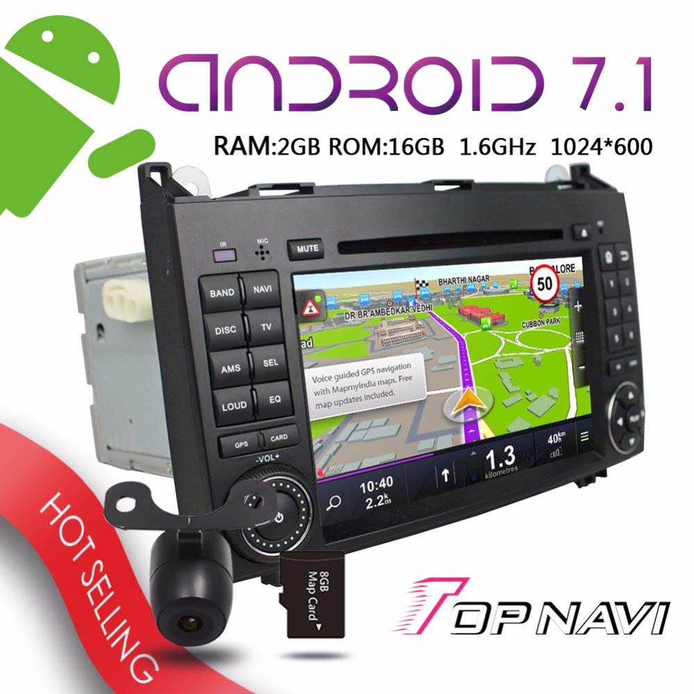 Topnavi 7'' Multi HD Android 7.1 Car GPS for Benz A W169 B W245 Viano Vito Sprinter VW Crafter Auto Players Bluetooth Stereo