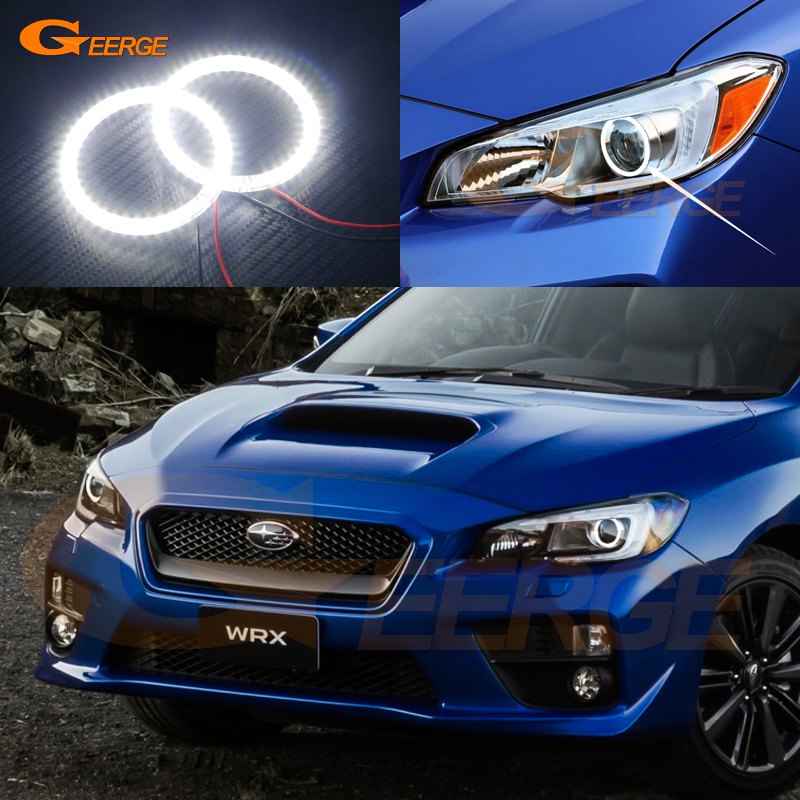 For Subaru Impreza WRX sti 2015 2016 2017 Excellent Ultra bright illumination smd led Angel Eyes Halo Ring kit epman intercooler y pipe hose kit for subaru wrx sti gdb ggb 2 0 00 07 ver 7 9 3pcs ep sbt007