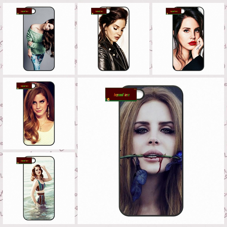 Singer Sexy Girl Lana Del Rey Cover case for iphone 4 4s 5 5s 5c 6 6s plus samsung galaxy S3 S4 mini S5 S6 Note 2 3 4  DE0203