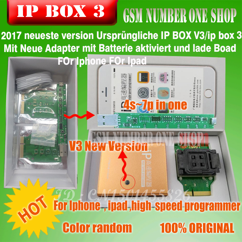 2019 Ipbox IP BOX3 high speed programmer for telefon pad harte disk programmers4s 5 5c 5