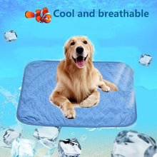 0c32f30fa088 Pet Dog Mat coche fresco cojín del hielo de peluche colchones pequeños  perros grandes gato cojín verano mantener fresco cama per.