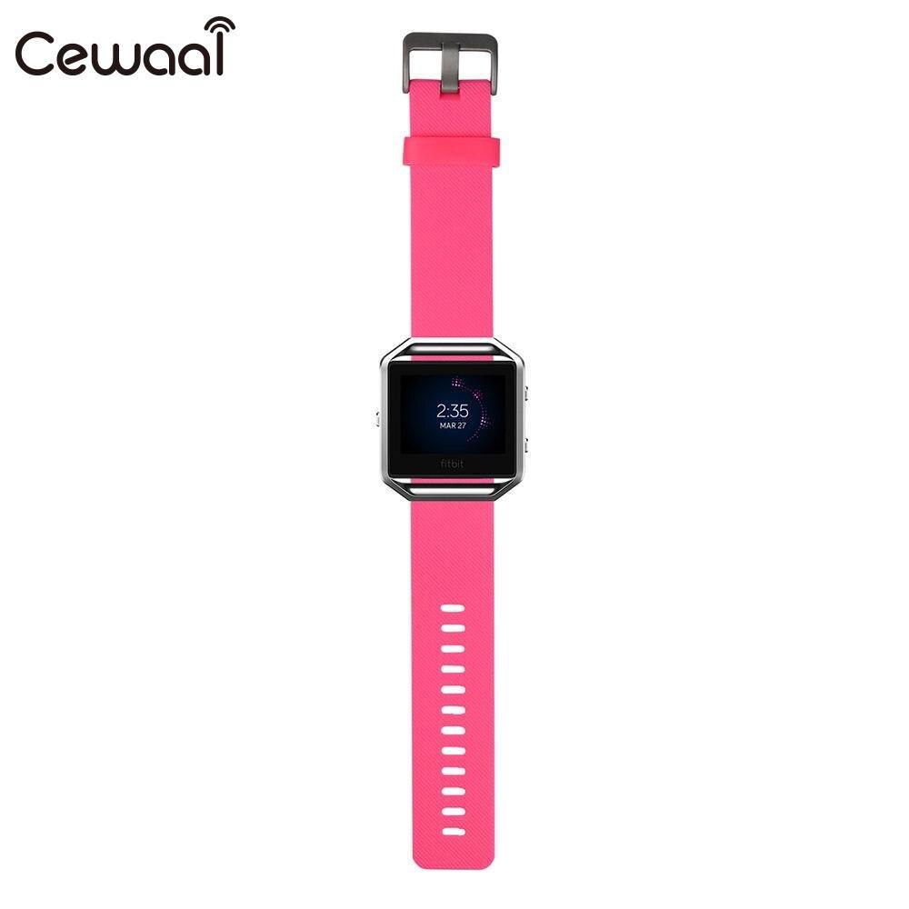 Ремешок для часов маленький ремешок для часов TPE замена Смарт-часы поставки Fitbit Blaze - Цвет: pink