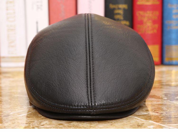 men natural Sheepskin beret (6)