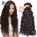 7A Unprocessed Indian Virgin Hair Natural Wave 3 Bundles Raw Indian Hair Wet And Wavy Human Hair Bundles Virgin Indian Remy Hair